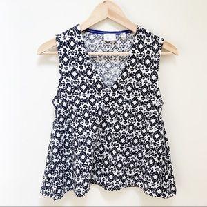 Anthro Postmark  pattern sleeveless blouse XS
